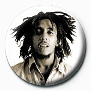 BOB MARLEY - sepia Badge