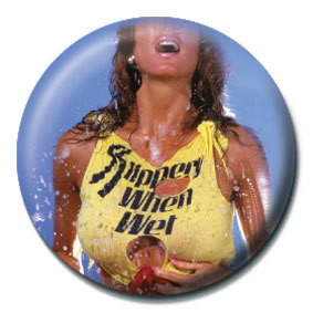 Bon jovi slippery when wet badge button sold at for Slippery when wet tattoo