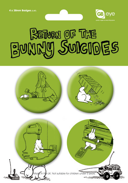 BUNNY SUICIDES - Pack 2 Badge Pack