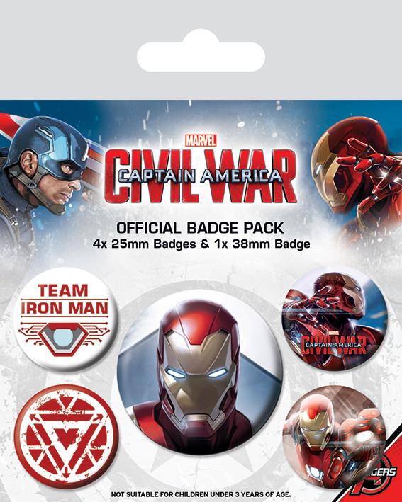 Captain America Civil War - Iron Man Badge Pack