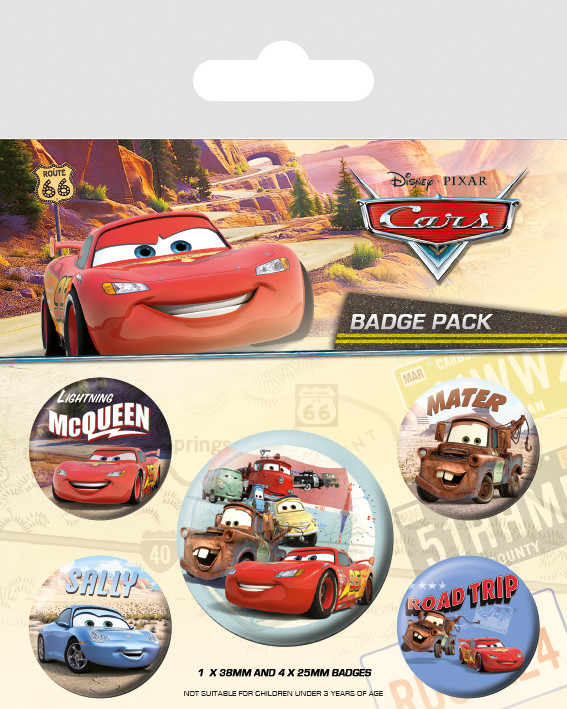 Cars - On The Road Badge Pack
