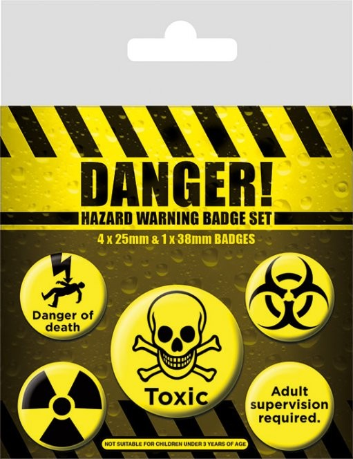 Danger! - Hazard Warning Badge Pack