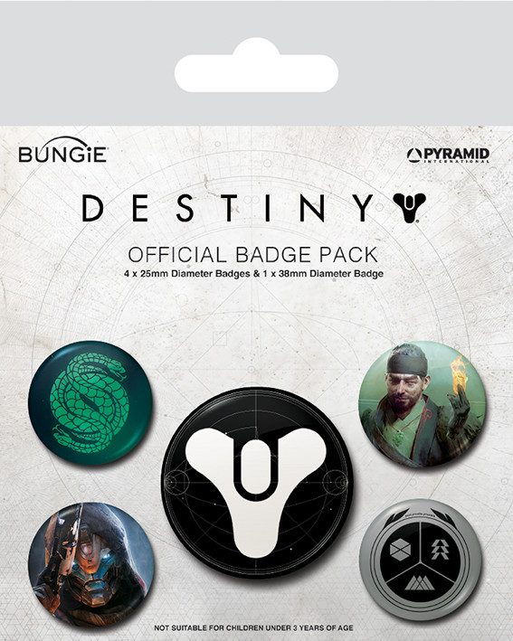 Destiny - Guardians of Light Badge Pack