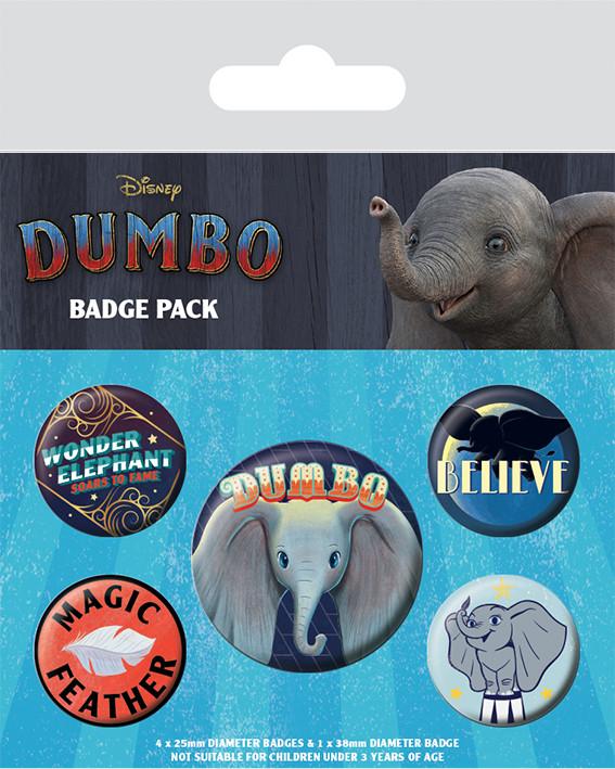 Badge set Dumbo - The Flying Elephant