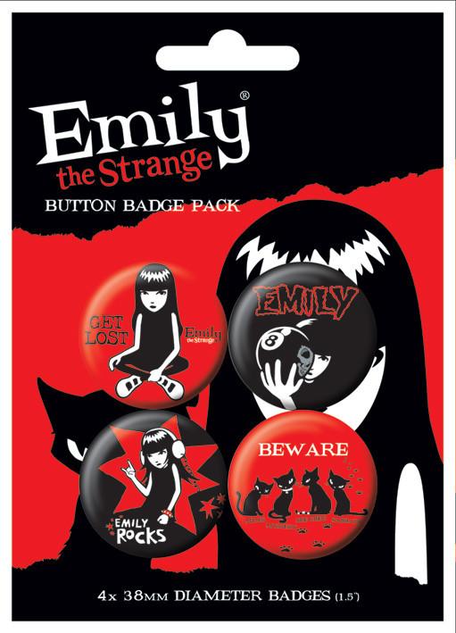 EMILY THE STRANGE 1 Badge Pack