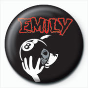 Emily The Strange - 8 ball Badges