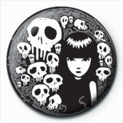 Emily The Strange - skulls Badge