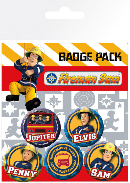 Fireman Sam Heroes Badge Pack Sold At Europosters