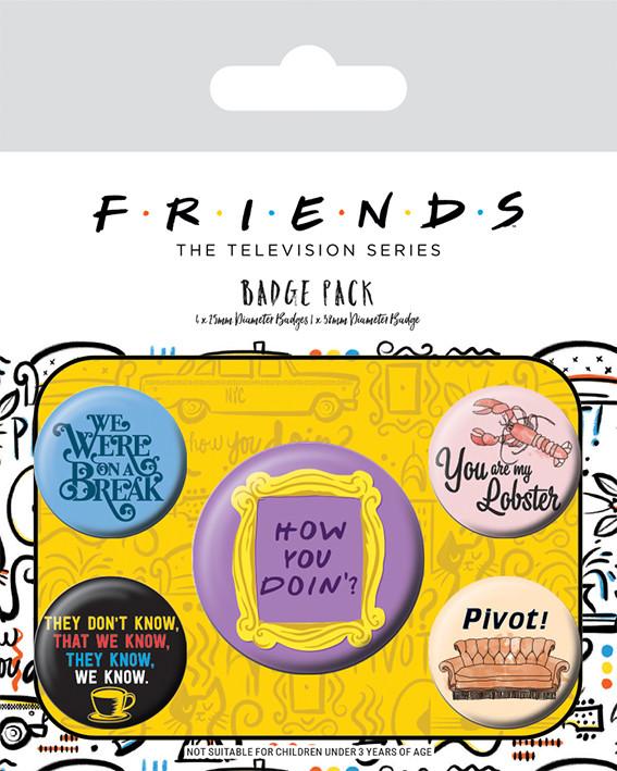 Badge set Friends - Quotes