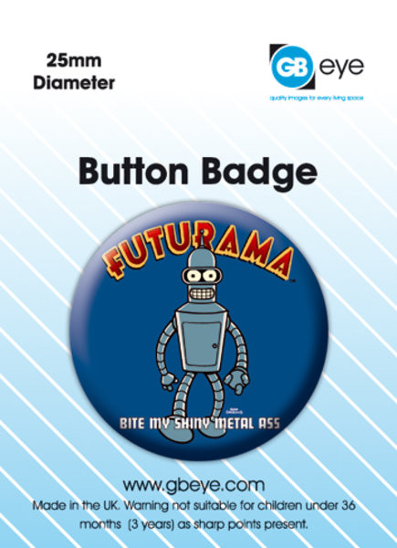 Futurama Bender Badges