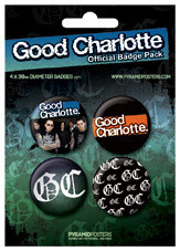 GOOD CHARLOTTE Badges