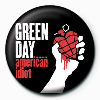 green day american idiot badge button sold at europosters