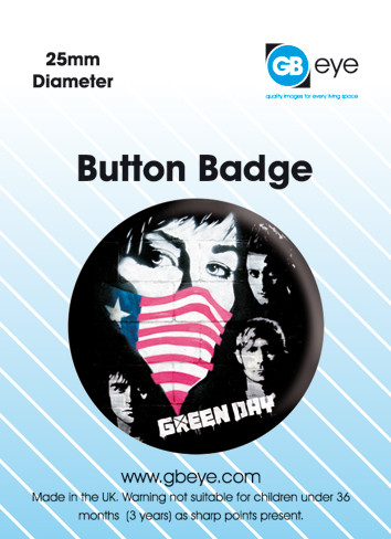 GREEN DAY - Protest Badges