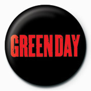 GREEN DAY - RED LOGO Badges