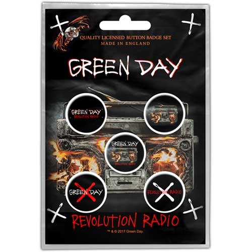 Badge set GREEN DAY - REVOLUTION RADIO