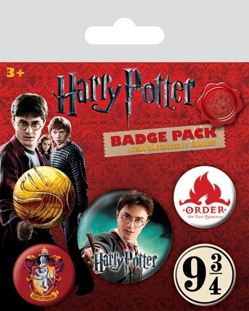 Harry Potter - Gryffindor Badge Pack