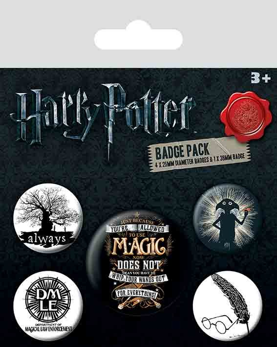 Harry Potter Symbols Badge Pack Sold At Abposters