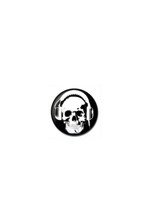 HEADPHONE SKULL Badge