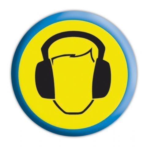 HEADPHONES Badge