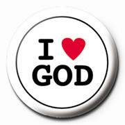I LOVE GOD Badges