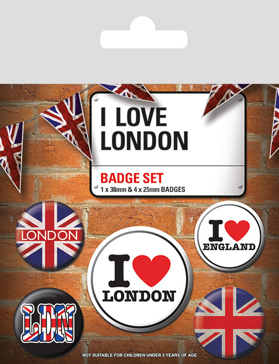 I Love London Badge Pack