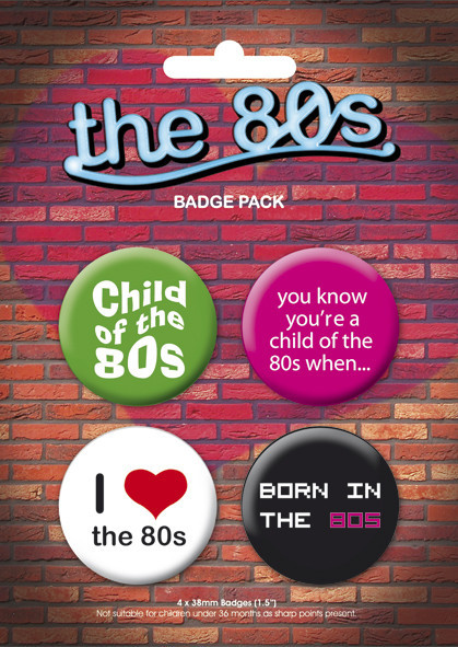 I LOVE THE 80'S Badge Pack