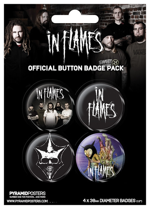 IN FLAMES Badge Pack