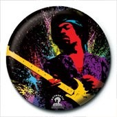 JIMI HENDRIX - paint Badges