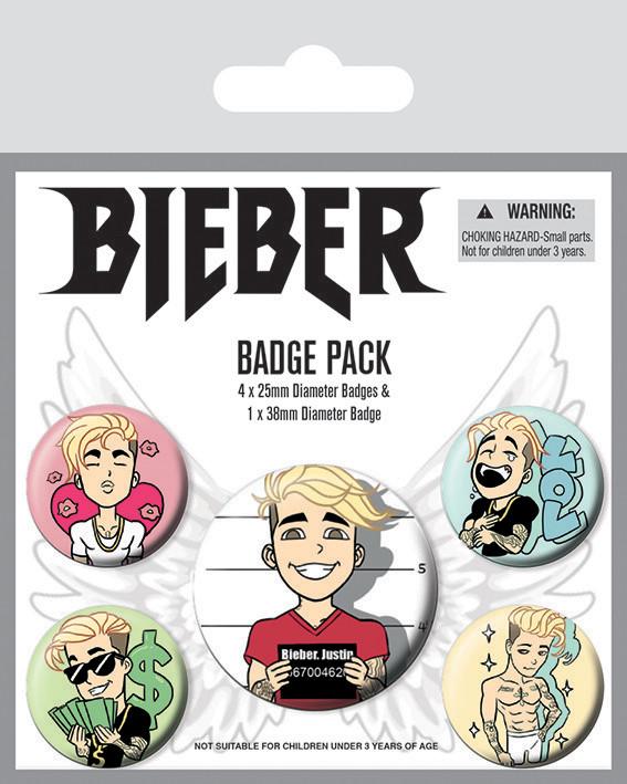 Justin Bieber - Emojis Badge Pack