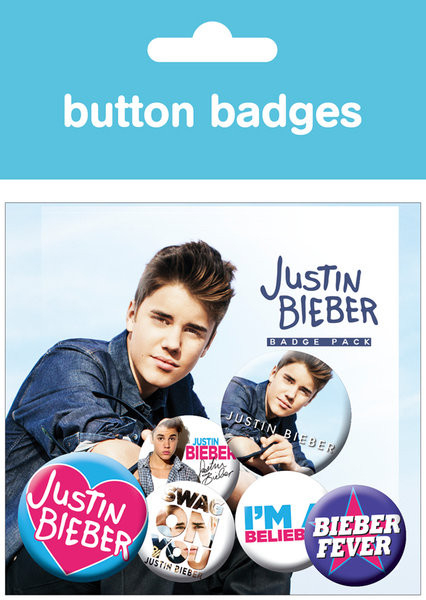JUSTIN BIEBER Badge Pack