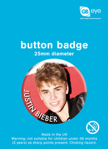 JUSTIN BIEBER - smile Badges
