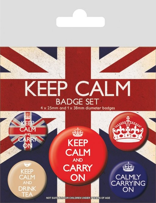 Badges Keep Calm and Carry On