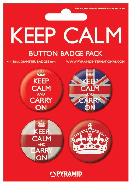 Badges KEEP CALM & CARRY ON