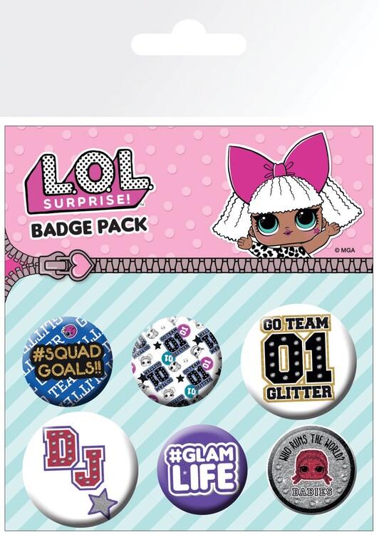Badge set L.O.L. Surprise - Mix