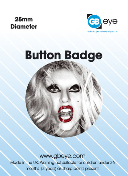 LADY GAGA - FACE Badge