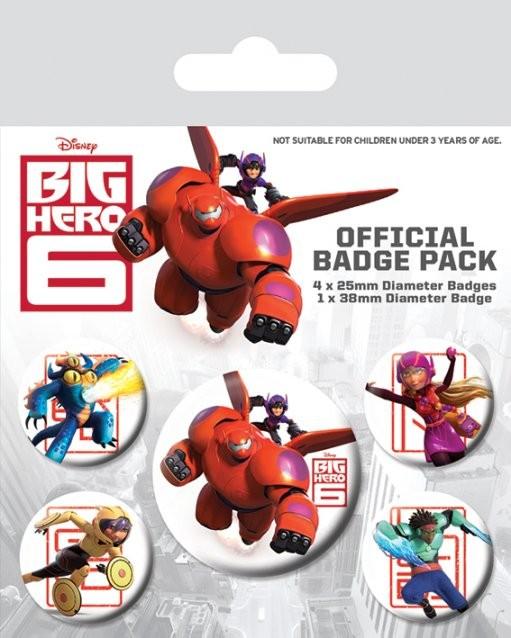 Badges Les Nouveaux Héros - Characters