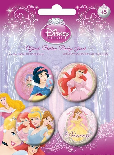 Badges LES PRINCESSES DISNEY  1
