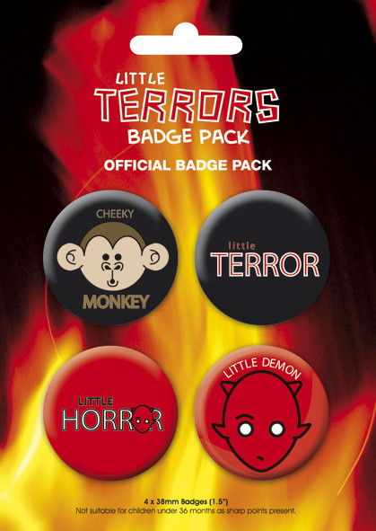 LITTLE TERROR Badge Pack