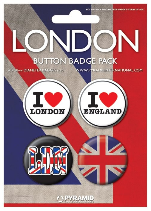 LONDON - i love Badge Pack