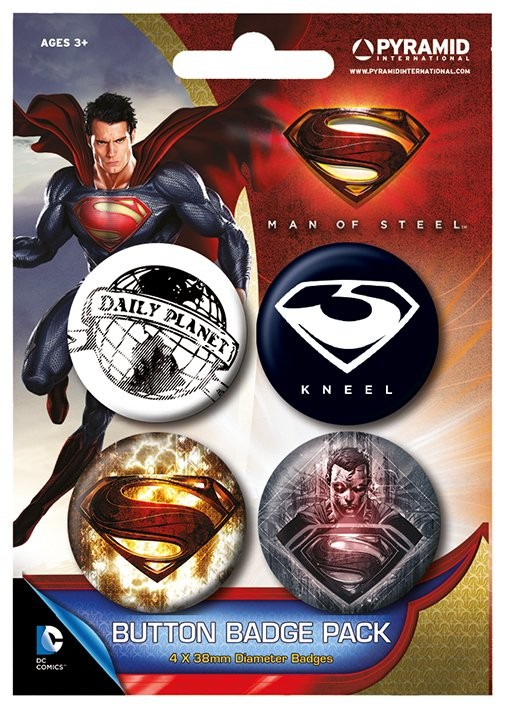 MAN OF STEEL Badge Pack