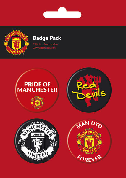 MAN UNITED - pack 2 Badge Pack