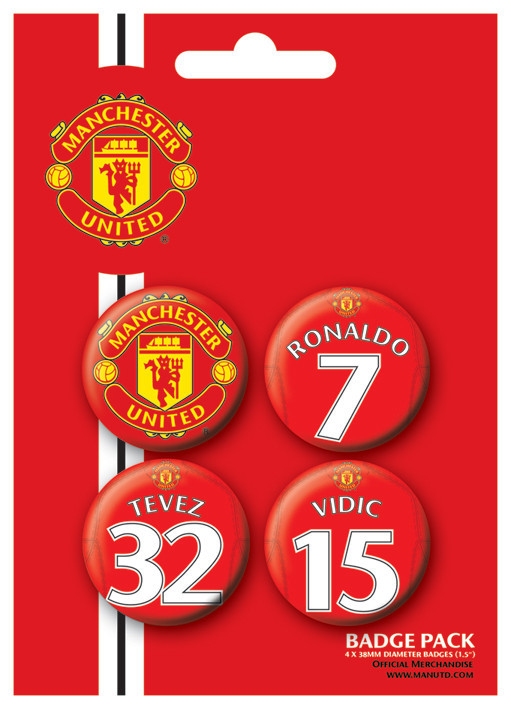 MANCH. UNITED - Players 1 Badge Pack
