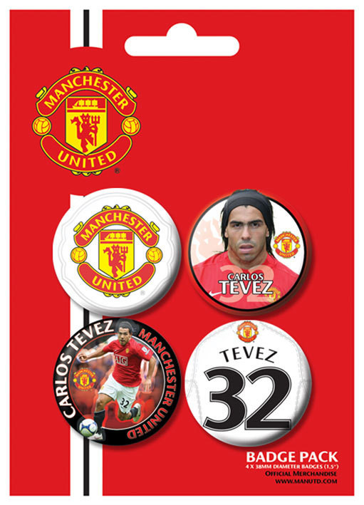 Badges MANCH. UNITED - Tevez