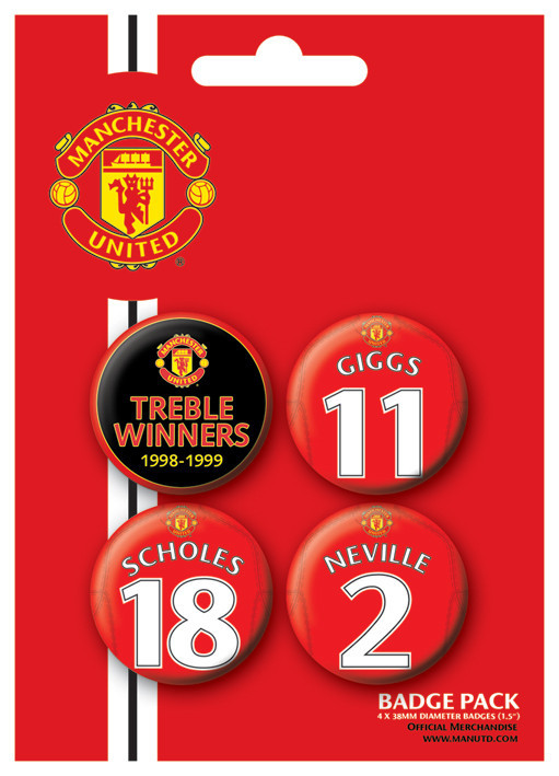 MANCH. UNITED - Treble winner Badge Pack