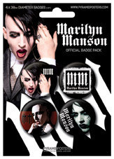 MARILYN MANSON Badge Pack