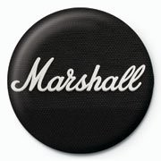 MARSHALL - black logo Badges