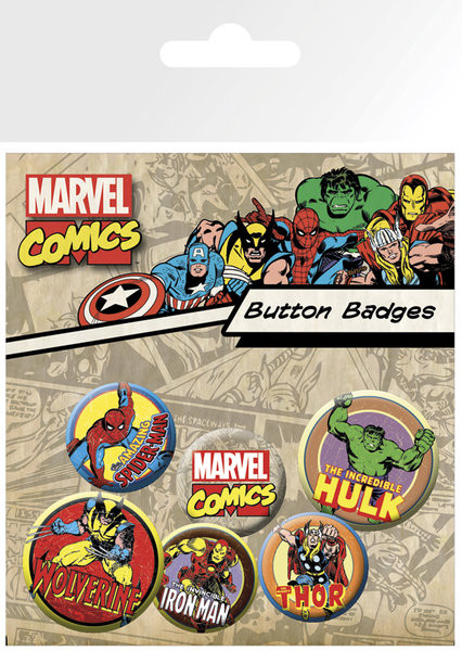 MARVEL - characters Badge Pack