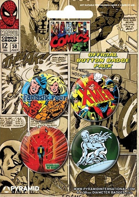 MARVEL COMICS 1 Badge Pack