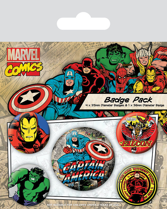 Badge set Marvel Retro - Captain America