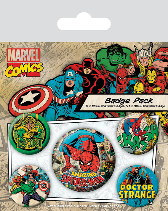 Marvel Retro - Spider-Man Badge Pack